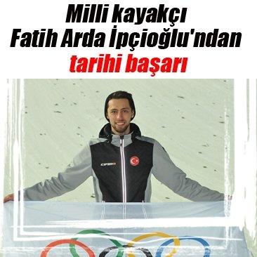 Milli kayakçı Fatih Arda İpçioğlu'ndan tarihi başarı