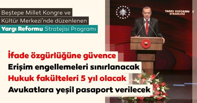 Başkan Erdoğan yeni yargı reform belgesini açıkladı