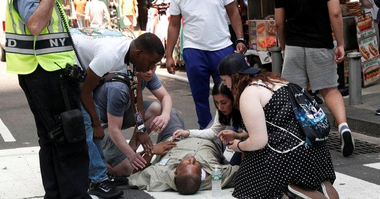 Son dakika: New York'un ünlü Times meydanında panik