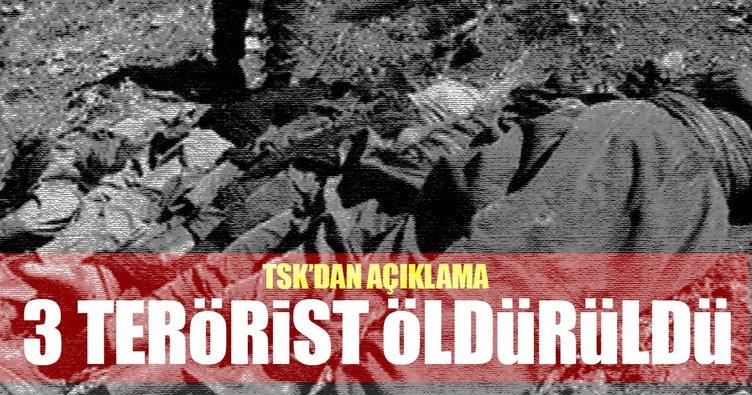 TSK: Son 2 günde Şırnak'ta 3 terörist etkisiz hale getirildi