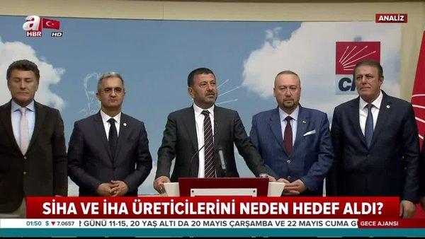 Eylemlerin aranan ismi CHP'li Veli Ağbaba SİHA ve İHA üreticilerini neden hedef aldı? | Video