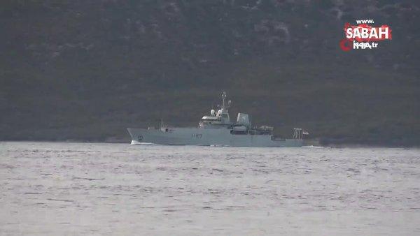 İngiliz savaş gemisi Çanakkale Boğazı'ndan geçti | Video