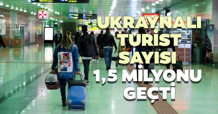 Ukraynalı turist sayısı 1,5 milyonu geçti