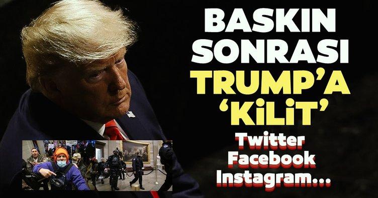 Son dakika haberi: ABD'deki kongre baskını sonrası Donald Trump'ın sosyal medya hesaplarına kilit!
