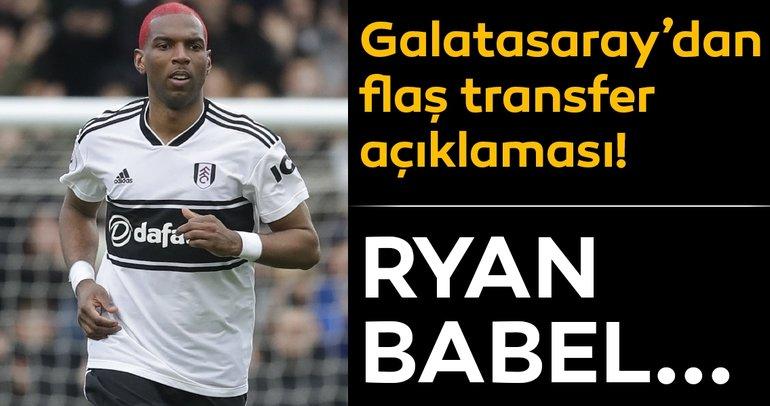 Galatasaray ve Ryan Babel! Cimbom'dan flaş transfer açıklaması...