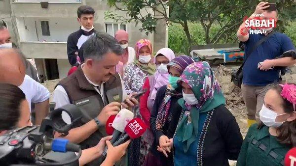 Sel mağdurları ile görüşen Bakan Pakdemirli, Başkan Erdoğan'ı aradı | Video