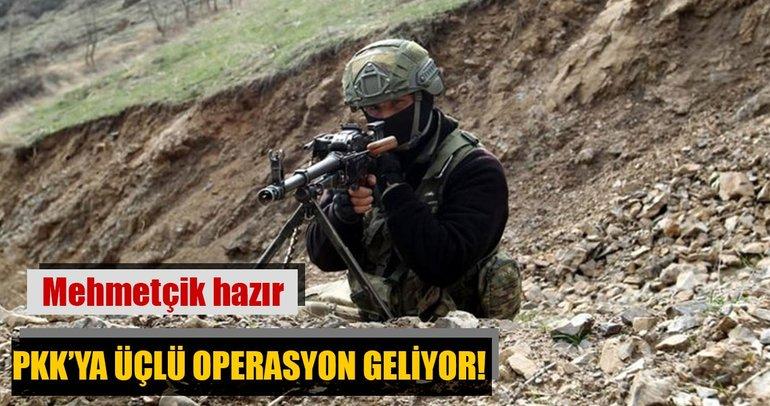 Mehmetçik hazır! PKK'ya Irak'ta üçlü operasyon geliyor