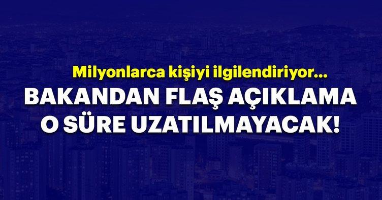 Çevre ve Şehircilik Bakanı Murat Kurum: İmar barışında süre uzatılmayacak