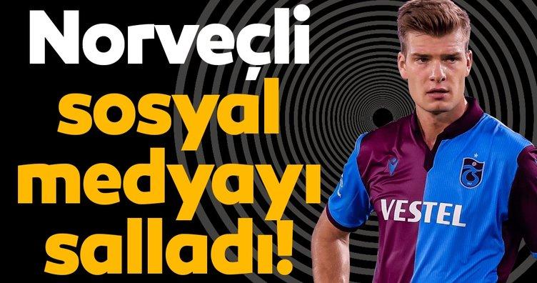 Trabzon'un Norveçli yıldızı Alexander Sörloth sosyal medyayı salladı!