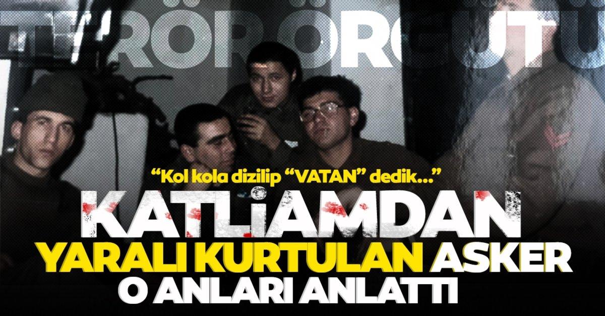 Son dakika haberi: PKK katliamından sağ kurtulan asker anlattı: Deliklere kaçıyorlar
