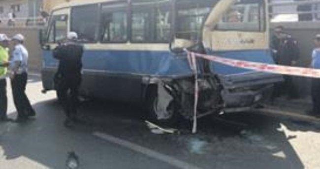 Başkente minibüs kazası: 6 yaralı
