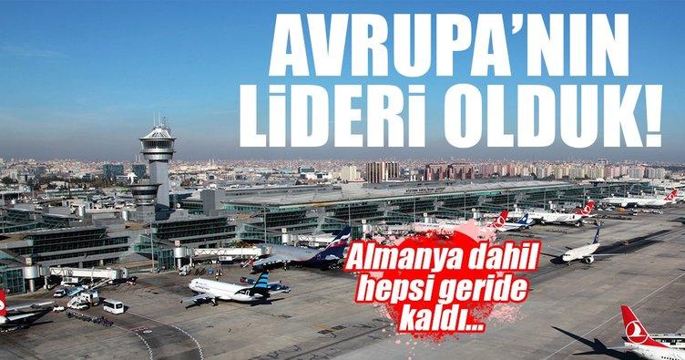 Türkiye, uçuş trafiğinde Avrupa'nın lideri