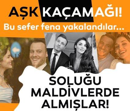 Aşk kaçamağı mı? Hande Erçel ile Kerem Bürsin Maldivler'de fena yakalandı! 'Aşk olursa haberiniz olur' demişlerdi...