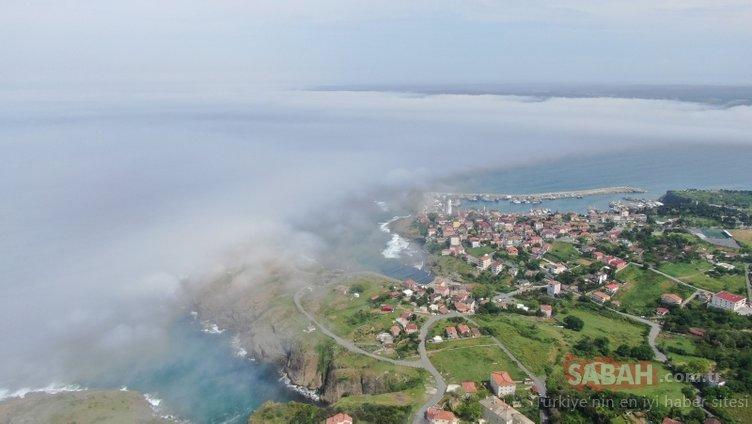 Boğaz'a sis çöktü; Kartpostallık görüntü ortaya çıktı