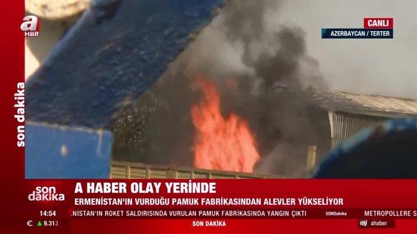 Son dakika! Ermenistan ateşkesi ihlal etti Terter'e saldırdı! Canlı yayında böyle bombalandı   Video