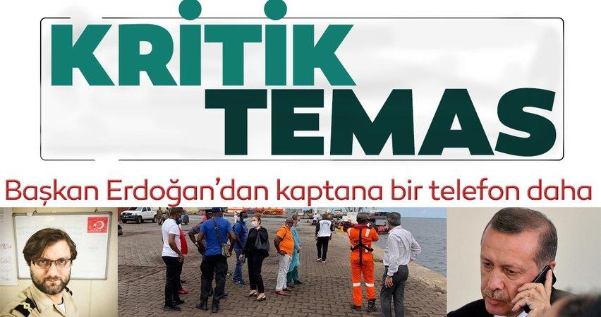 SON DAKİKA HABERİ: Başkan Erdoğan, saldırıya uğrayan gemi kaptanı ile yeni bir görüştürme gerçekleştirdi