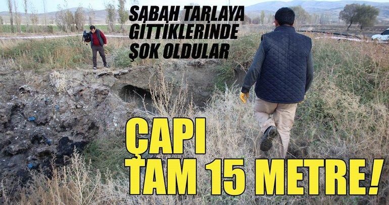 Sivas'ta 15 metre çapında obruk oluştu