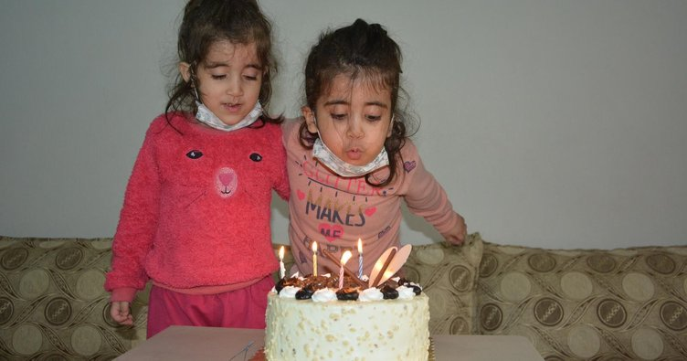 Engelli minik Emine'ye doğum günü sürprizi