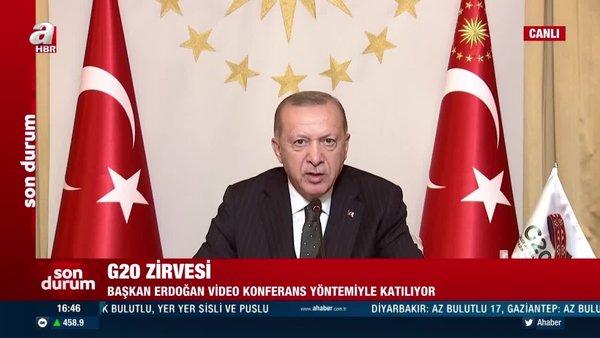 Cumhurbaşkanı Erdoğan'dan G20 Zirvesi'nde önemli açıklamalar | Video