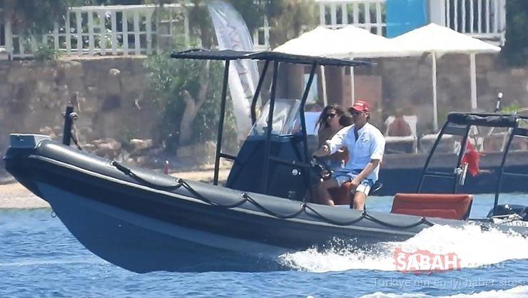 Kıvanç Tatlıtuğ ile Başak Dizer'in denizde aşk dolu dakikaları… Denizde şov yaptı!