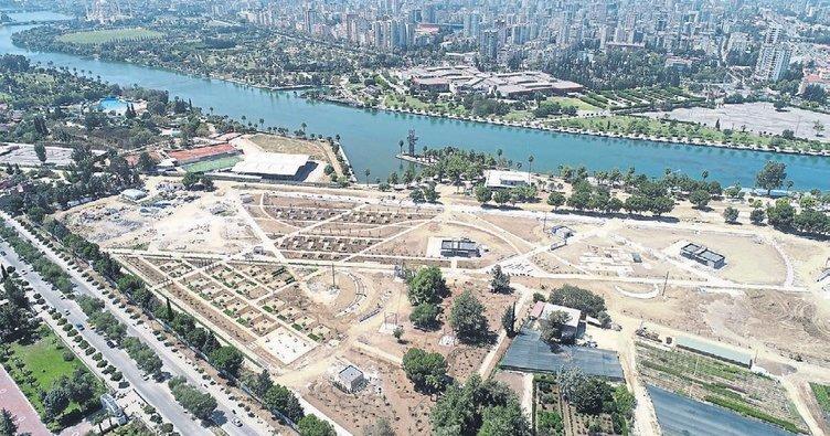 Adana'nın ilk 'Millet Bahçesi' ekimde açılacak