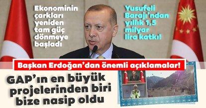 Yusufeli Barajı'nda tarihi gün! Başkan Erdoğan'dan önemli açıklamalar...
