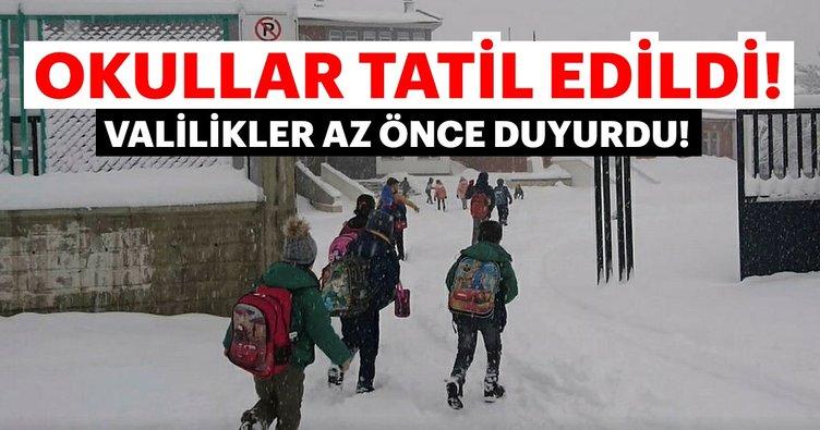 Son dakika: Bugün o iller ve ilçelerde okullar tatil edildi 4