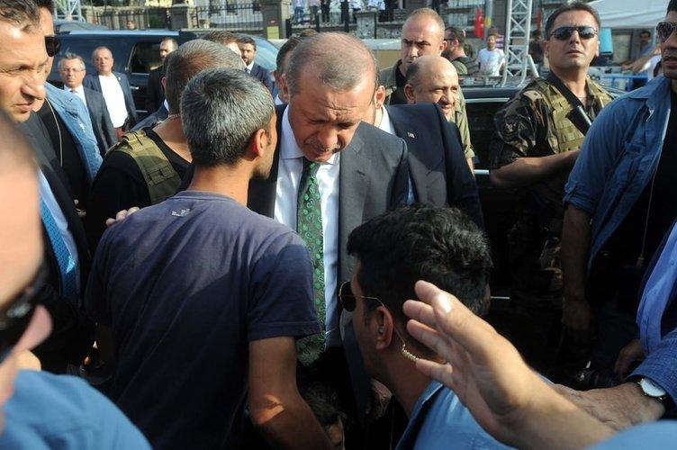 Vatandaşlardan Cumhurbaşkanı Erdoğan'a sevgi gösterisi