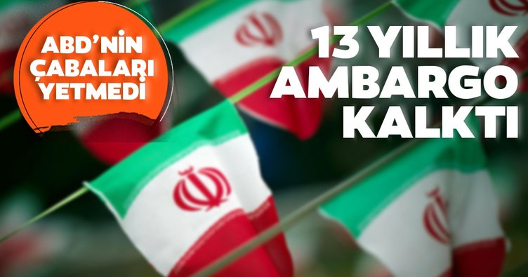 İran, BM'nin 2007'den beri uyguladığı silah ambargosunun kaldırıldığını duyurdu