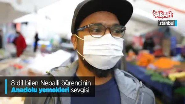 8 dil bilen Nepalli öğrencinin Anadolu yemekleri sevgisi