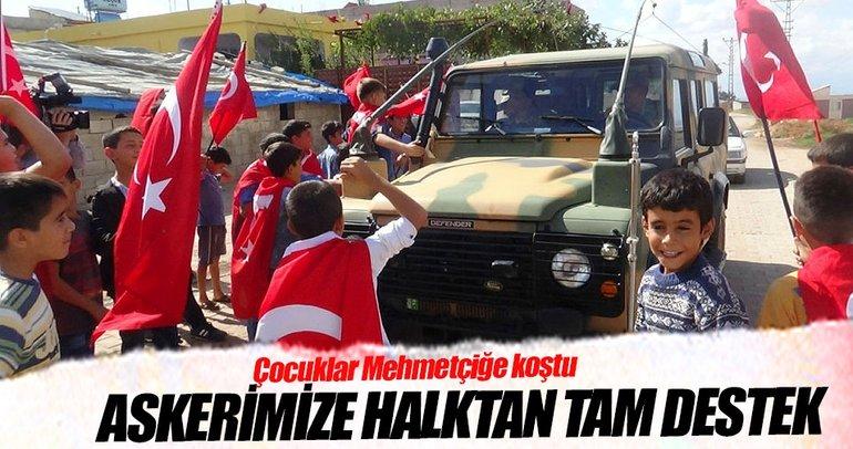 Sınırdaki askerimize halktan tam destek