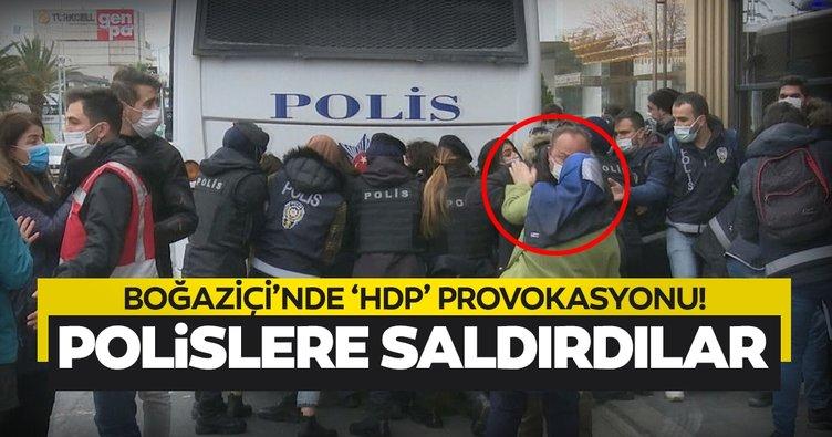 Boğaziçi'nde yine provakasyon! HDP'liler polislere saldırdı