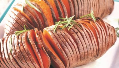 Fırında Tatlı Patates (hasselback)