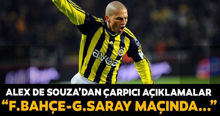 Alex de Souza: Fenerbahçe - Galatasaray maçında...