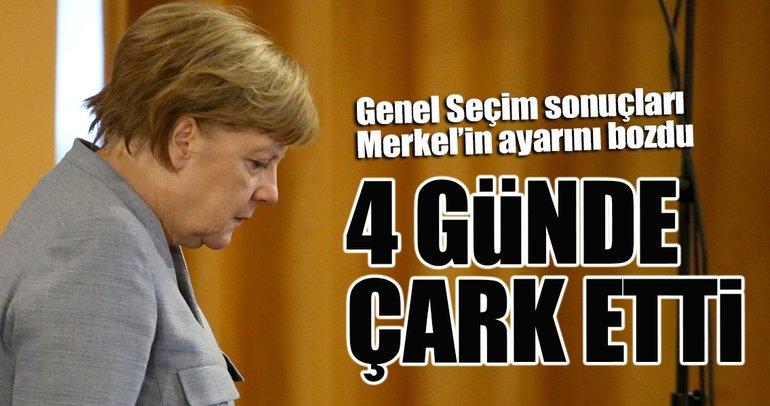 Merkel 4 günde çark etti