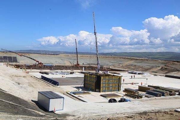 Çanakkale Köprüsü'nün çalışmaları havadan görüntülendi