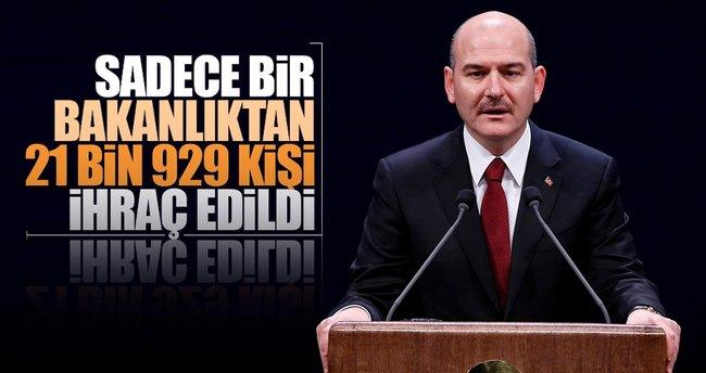 İçişleri Bakanı Soylu: FETÖ soruşturmasında 21 bin 929 kişi ihraç oldu