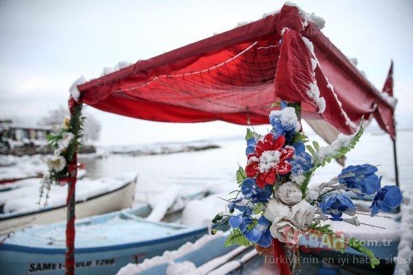 'Küçük Venedik' beyaz örtüsüyle ayrı güzel