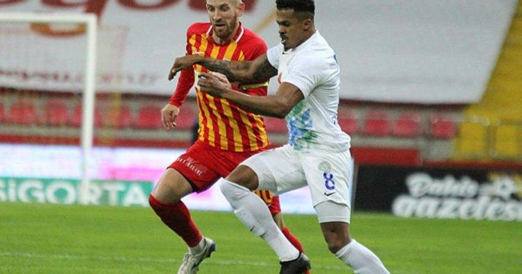 Kayserispor evinde Çaykur Rizespor'u mağlup etti!