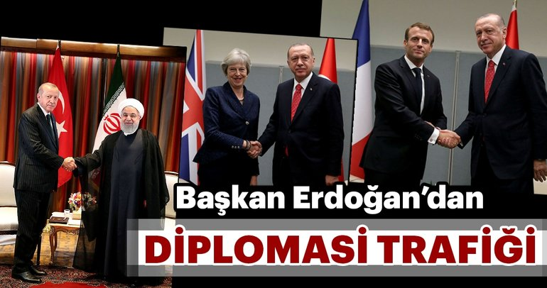 Başkan Erdoğan liderleri kabul etti.