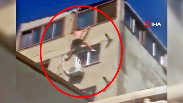 Son dakika haberi: İstanbul'da kan donduran ölüm! Yarı çıplak iç çamaşırı ile 7'inci kattan... | Video