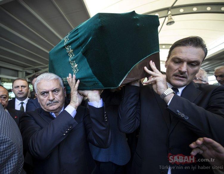 Alpay Özalan'ın babası son yolculuğuna uğurlandı