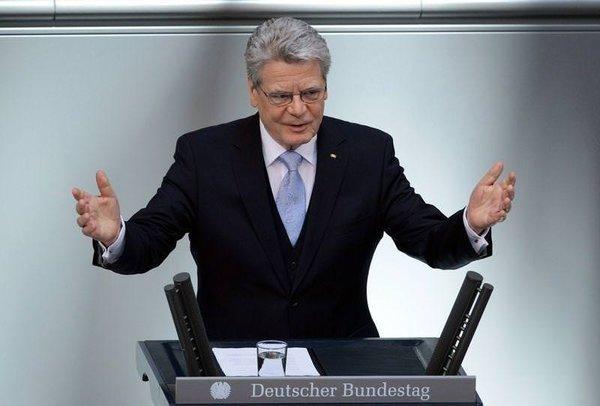 Gauck'un yemin töreninden kareler