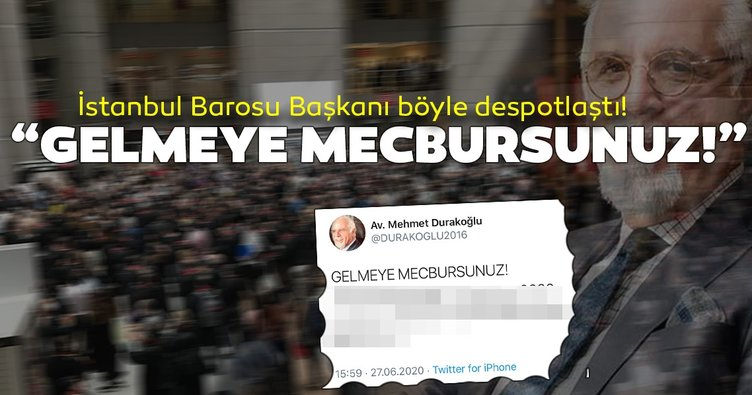 İstanbul Barosu Başkanı despotlaştı! Avukatlara öyle bir talimat verdi ki