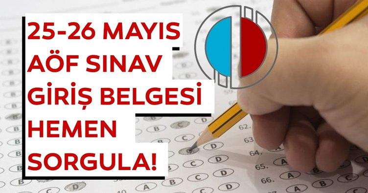AÖF sınav giriş belgesi ve yerleri açıklandı! 2019 Anadolu Üniversitesi AÖF sınav giriş belgesi hızlı sorgula