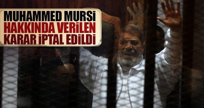 Mursi hakkındaki müebbet hapis cezası bozuldu