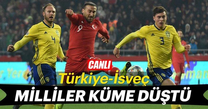 Türkiye İsveç'e tek golle mağlup oldu