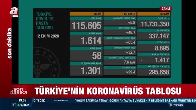 Son dakika! 12 Ekim koronavirüs rakamları açıklandı   Video