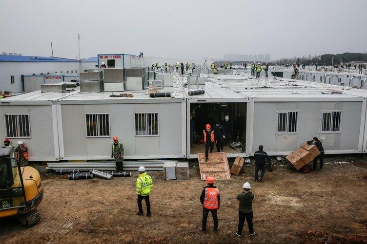 Çin koronavirüsle bu binada savaşacak! 10 günde inşa edildi