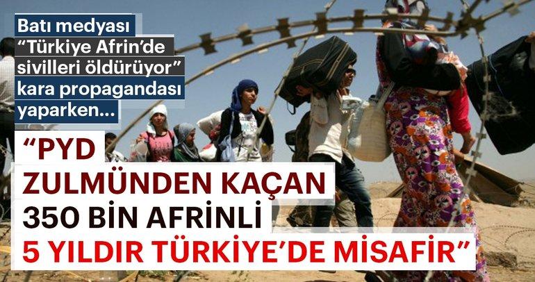 PYD zulmünden kaçan 350 bin Afrinli 5 yıldır Türkiye'de misafir